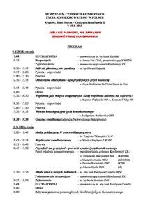 thumbnail of Program Sympozjum 4 Konferencji ŻK-3